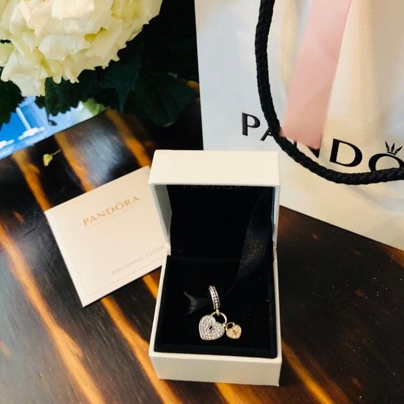 eb0831725 Pandora Jewelry | Nwt Love Locks Dangle Charm Clear Cz | Poshmark